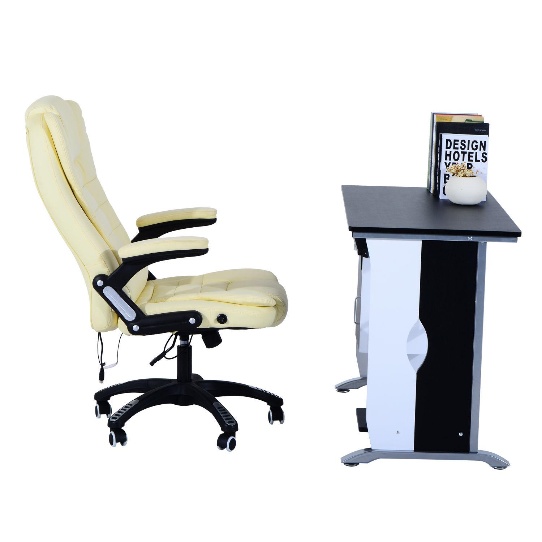 Computer-Desk-Workstation-Table-Sliding-Keyboard-Shelf-Wood-Drawer-Office-Home thumbnail 5