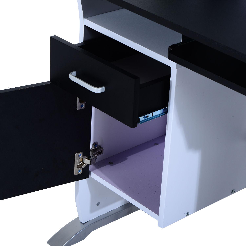 Computer-Desk-Workstation-Table-Sliding-Keyboard-Shelf-Wood-Drawer-Office-Home thumbnail 10