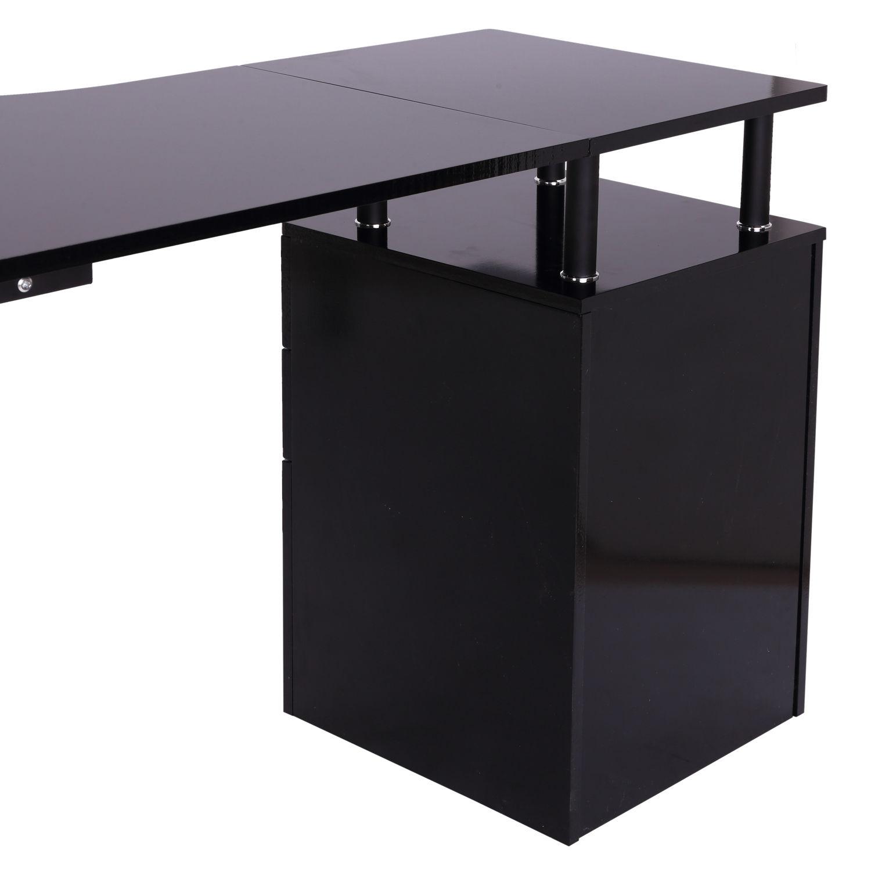 L Shaped Corner Desk Computer Workstation Home Office: Corner Study Table L Shaped For Computer Desk PC Laptop