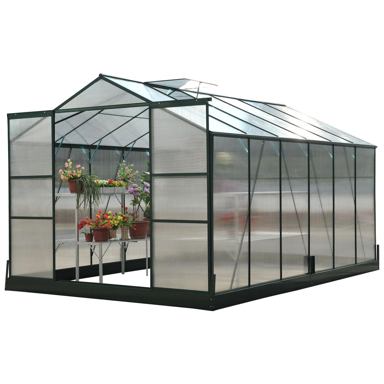 Alu Gewächshaus Treibhaus Tomatenhaus Frühbeet Pflanzenhaus mit/ohne ...