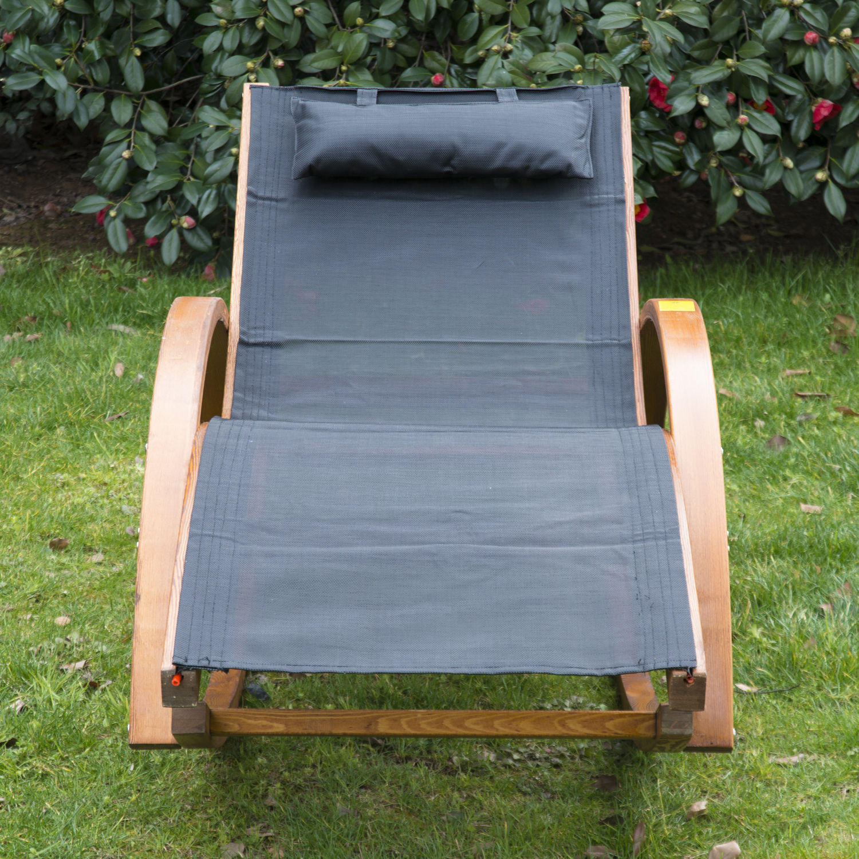 Schaukelstuhl Liegestuhl Sonnenliege Gartenliege Lounge Relaxsessel ...