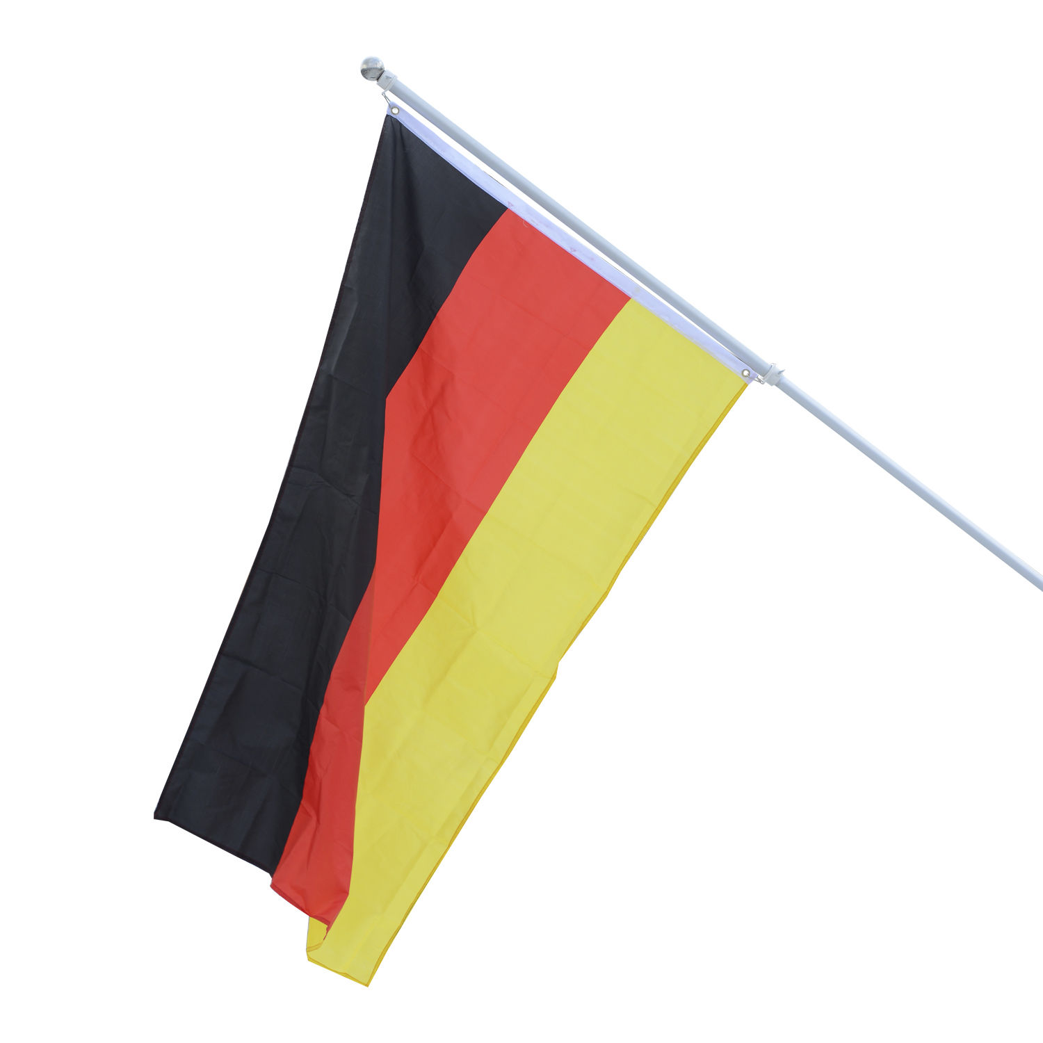 outsunny alu fahnenmast flaggenmast deutschlandfahne staatsflagge 150 x 90cm ebay. Black Bedroom Furniture Sets. Home Design Ideas