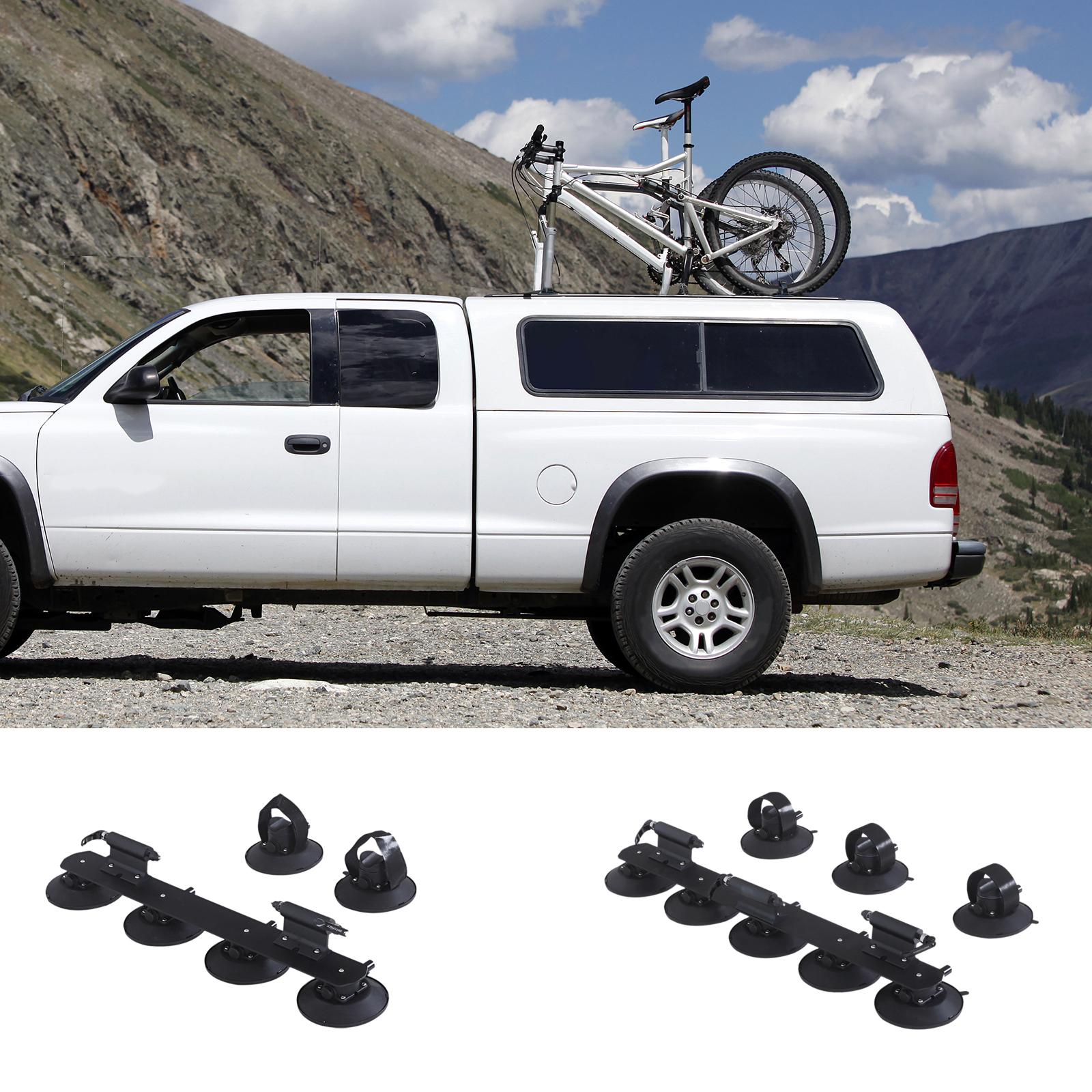 HOMCOM Fahrradträger Dachträger Fahrradhalter mit Saugnapf für 2//3 Fahrräder