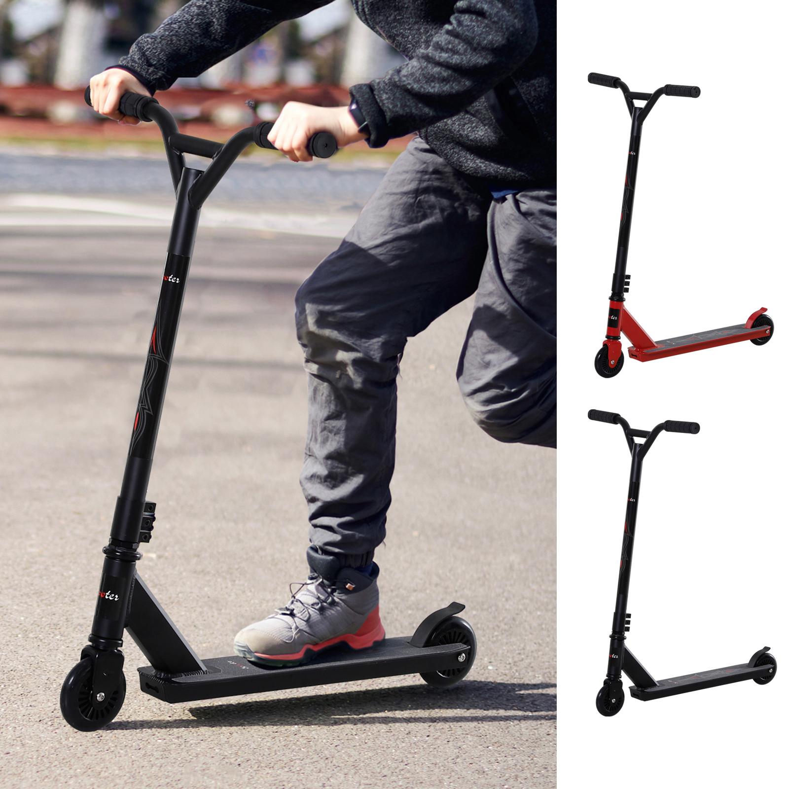 HOMCOM Pro Stunt Scooter Tretroller Freestyle Tricks ab 14 Jahren 2 Farben