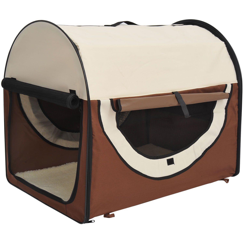 PawHut-Hundebox-faltbare-Hundetransportbox-Transportbox-Tier-2-Farben-5-Groessen Indexbild 21