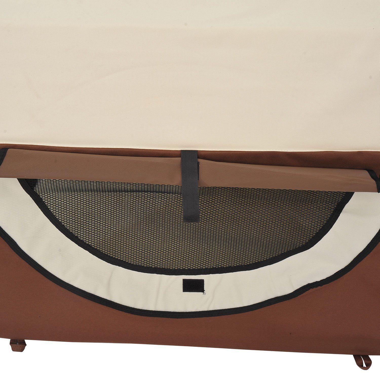 PawHut-Hundebox-faltbare-Hundetransportbox-Transportbox-Tier-2-Farben-5-Groessen Indexbild 23