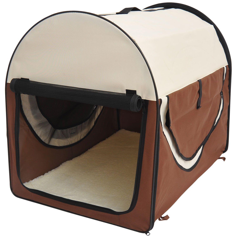 PawHut-Hundebox-faltbare-Hundetransportbox-Transportbox-Tier-2-Farben-5-Groessen Indexbild 17