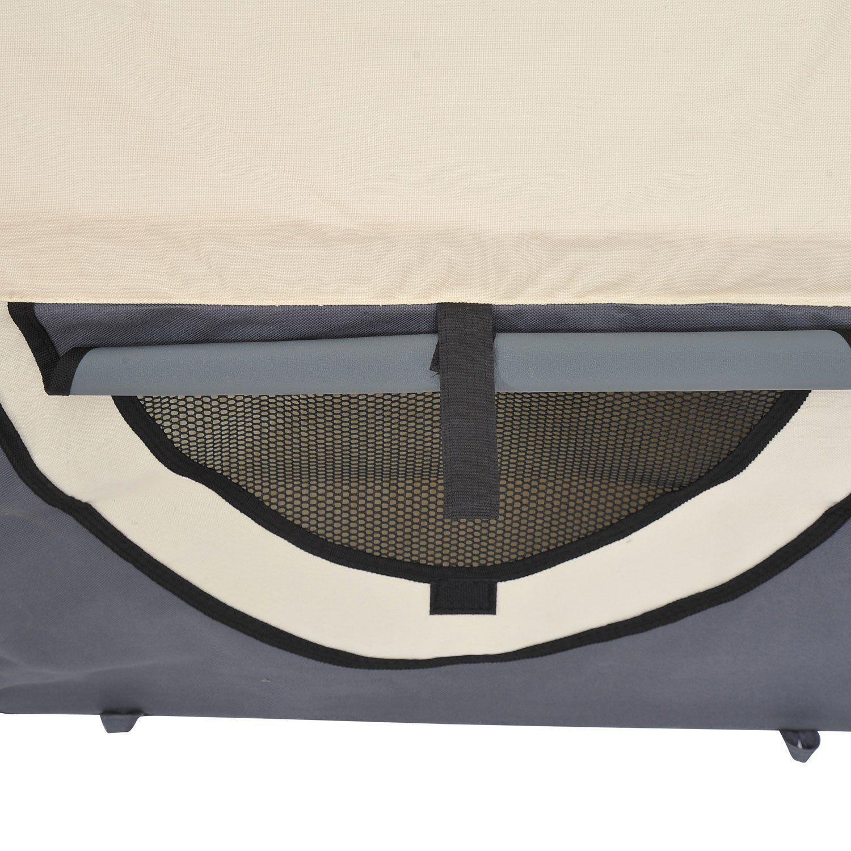 PawHut-Hundebox-faltbare-Hundetransportbox-Transportbox-Tier-2-Farben-5-Groessen Indexbild 15