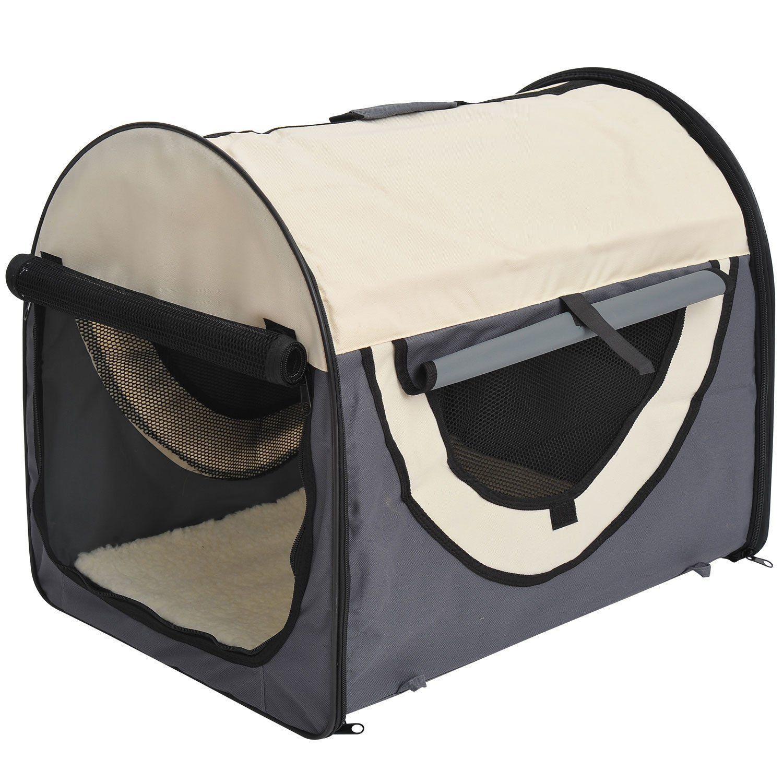 PawHut-Hundebox-faltbare-Hundetransportbox-Transportbox-Tier-2-Farben-5-Groessen Indexbild 13