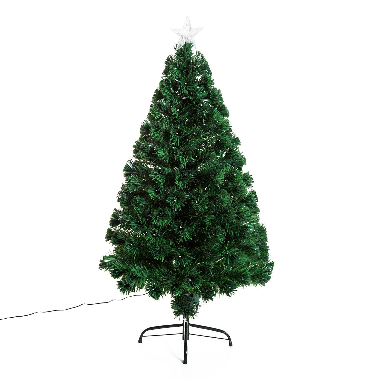HOMCOM-Albero-di-Natale-Artificiale-con-Luci-LED120-150-180cm-in-Fibre-Ottiche miniatura 16
