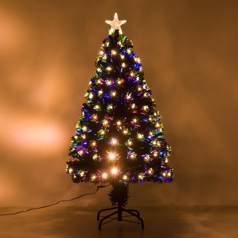 HOMCOM-Albero-di-Natale-Artificiale-con-Luci-LED120-150-180cm-in-Fibre-Ottiche miniatura 13