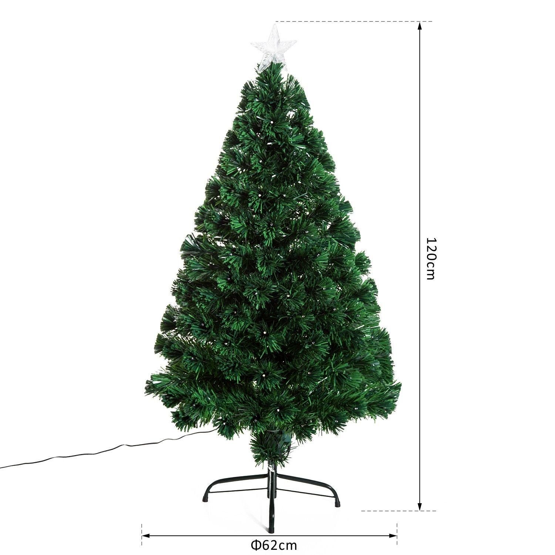 HOMCOM-Albero-di-Natale-Artificiale-con-Luci-LED120-150-180cm-in-Fibre-Ottiche miniatura 11