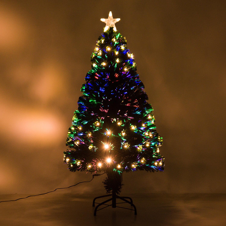 HOMCOM-Albero-di-Natale-Artificiale-con-Luci-LED120-150-180cm-in-Fibre-Ottiche miniatura 14