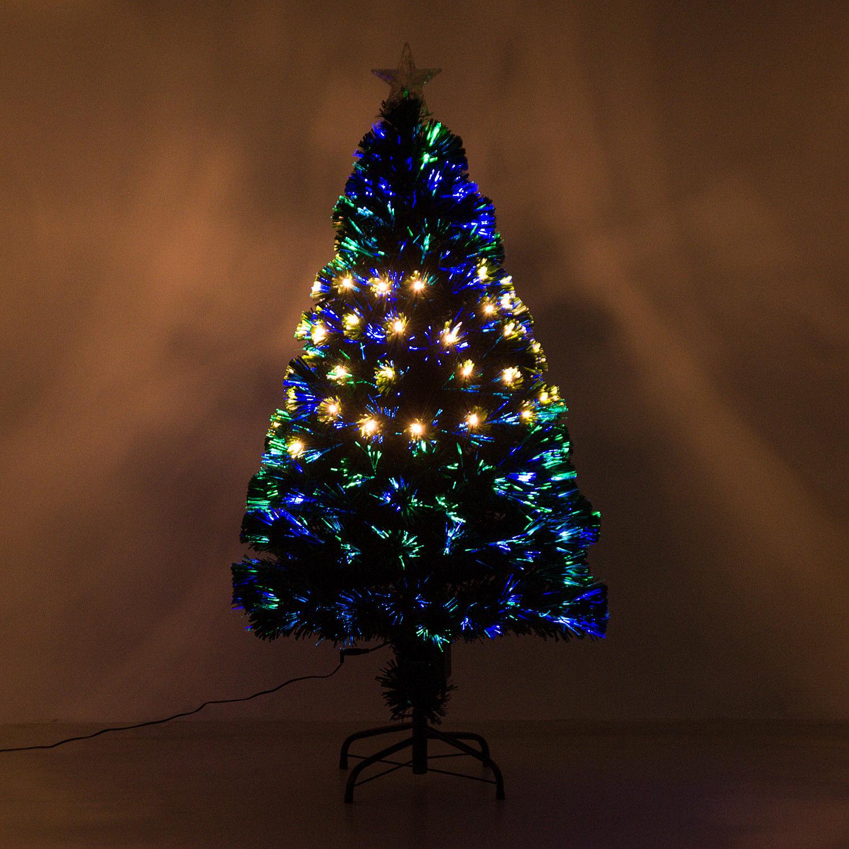 HOMCOM-Albero-di-Natale-Artificiale-con-Luci-LED120-150-180cm-in-Fibre-Ottiche miniatura 12