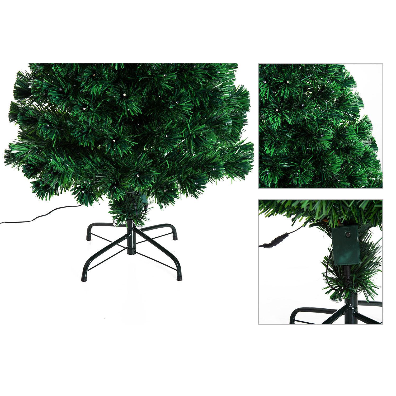 HOMCOM-Albero-di-Natale-Artificiale-con-Luci-LED120-150-180cm-in-Fibre-Ottiche miniatura 18