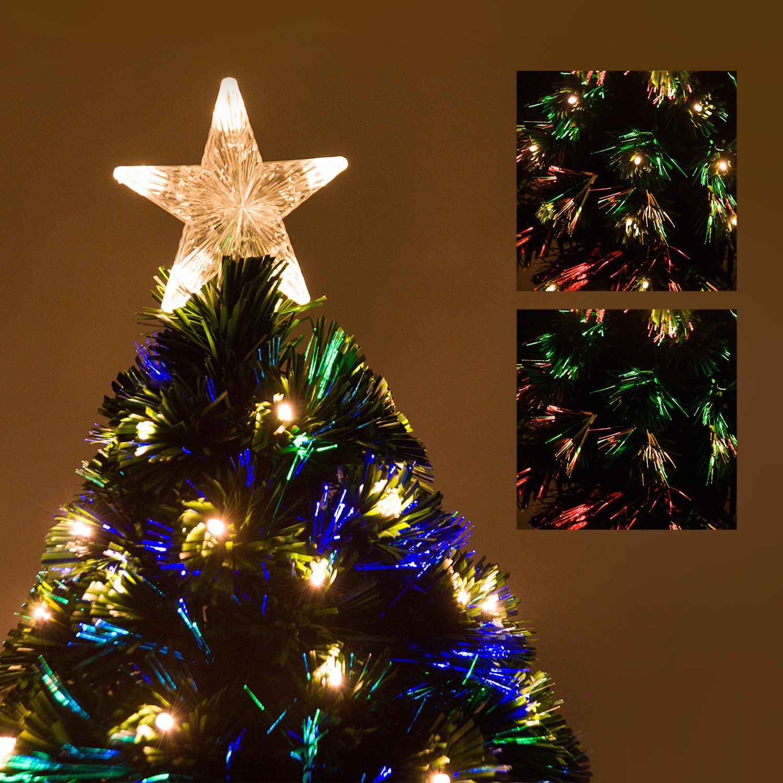 HOMCOM-Albero-di-Natale-Artificiale-con-Luci-LED120-150-180cm-in-Fibre-Ottiche miniatura 17