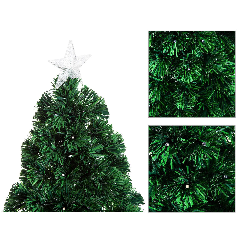HOMCOM-Albero-di-Natale-Artificiale-con-Luci-LED120-150-180cm-in-Fibre-Ottiche miniatura 15