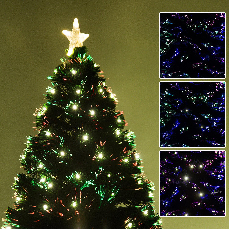HOMCOM-Albero-di-Natale-Artificiale-con-Luci-LED120-150-180cm-in-Fibre-Ottiche miniatura 25