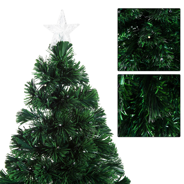 HOMCOM-Albero-di-Natale-Artificiale-con-Luci-LED120-150-180cm-in-Fibre-Ottiche miniatura 24