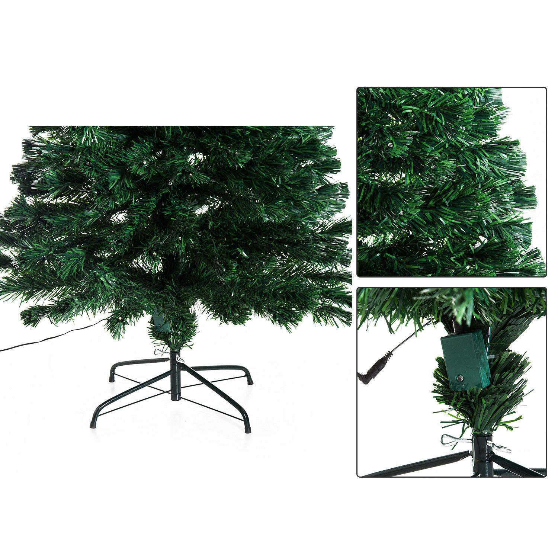 HOMCOM-Albero-di-Natale-Artificiale-con-Luci-LED120-150-180cm-in-Fibre-Ottiche miniatura 26