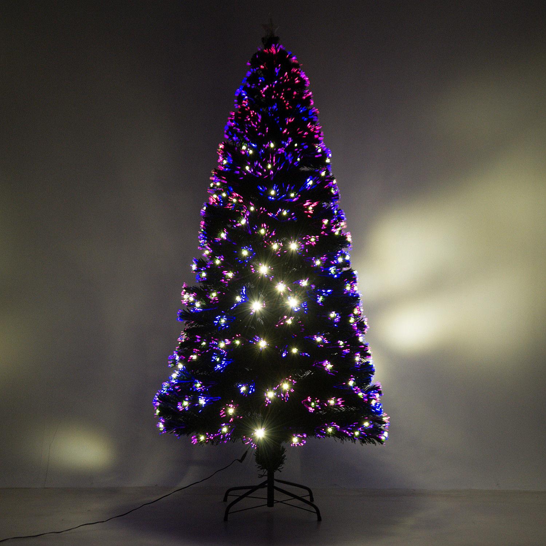HOMCOM-Albero-di-Natale-Artificiale-con-Luci-LED120-150-180cm-in-Fibre-Ottiche miniatura 22