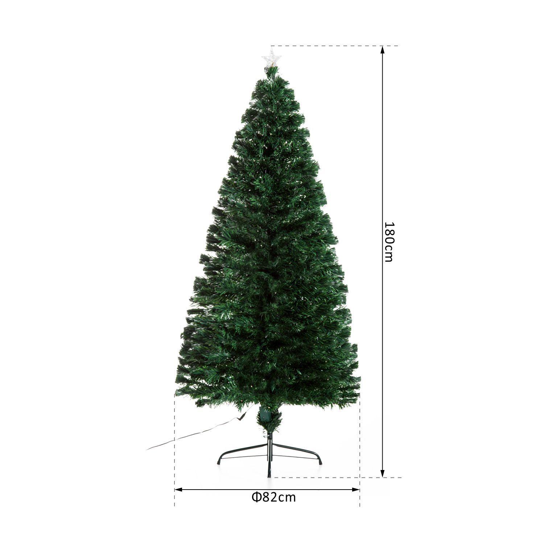 HOMCOM-Albero-di-Natale-Artificiale-con-Luci-LED120-150-180cm-in-Fibre-Ottiche miniatura 20