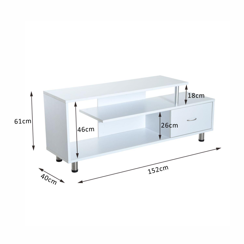HOMCOM-Moderno-Mobile-Porta-TV-in-Legno-Massello-152-x-40-x-61cm