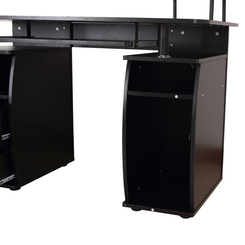 HOMCOM-Scrivania-per-Computer-Porta-PC-con-Ripiano-Tastiera-120-x-55-x-85-cm