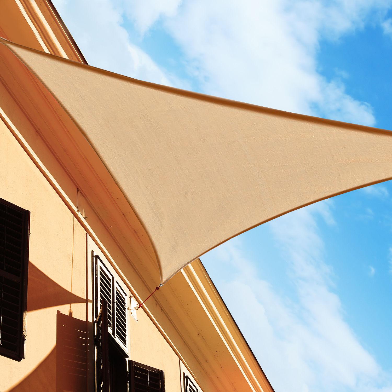 Toldo-Vela-Sombrilla-Parasol-Triangulo-Tejido-de-Poliester-160g-m2-Jardin-Playa