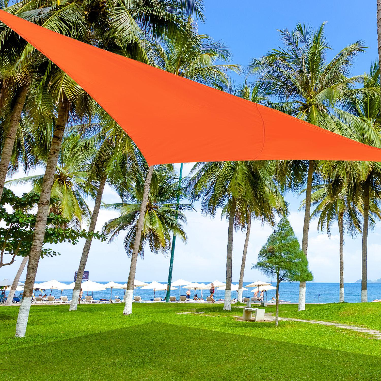 Toldo Vela Sombrilla Parasol Triangulo Tejido de Poliester 160g/m2 ...