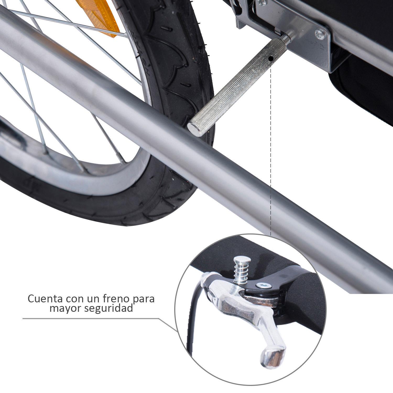 Remolque-para-Bicicleta-tipo-Carro-con-Barra-de-Paseo-para-Ninos-de-2-Plazas-NUE
