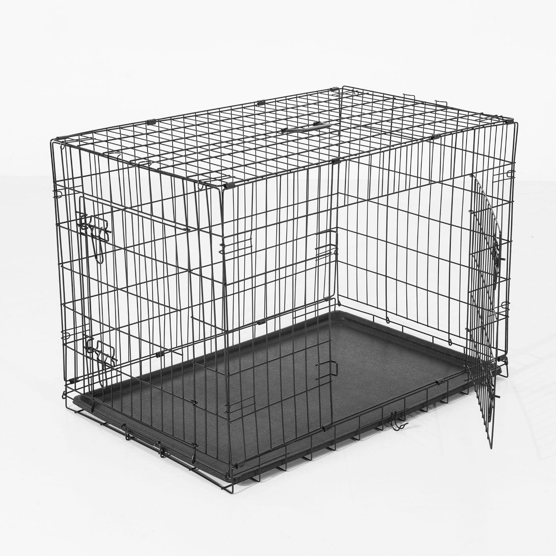 Jaula-de-Transporte-para-Perro-en-5-Medias-y-2-colores-de-Acero-Cojin-Opcional