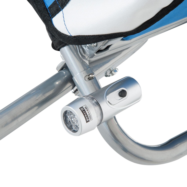 Remolque-Infantil-Bicicleta-2-PLAZAS-Kit-Footing-Rueda-360-Amortiguadores-Barra miniatura 12