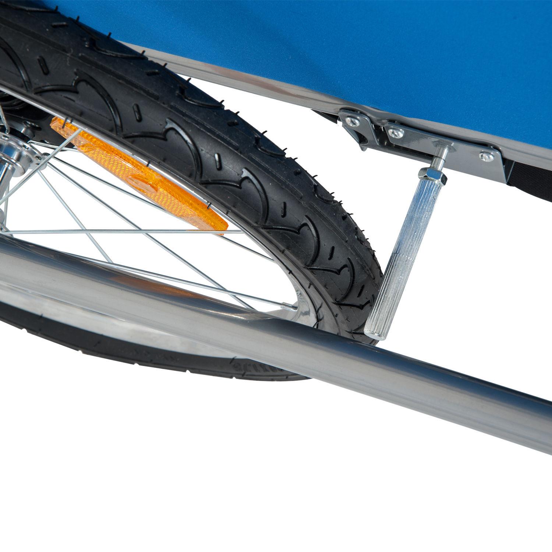 Remolque-Infantil-Bicicleta-2-PLAZAS-Kit-Footing-Rueda-360-Amortiguadores-Barra miniatura 13