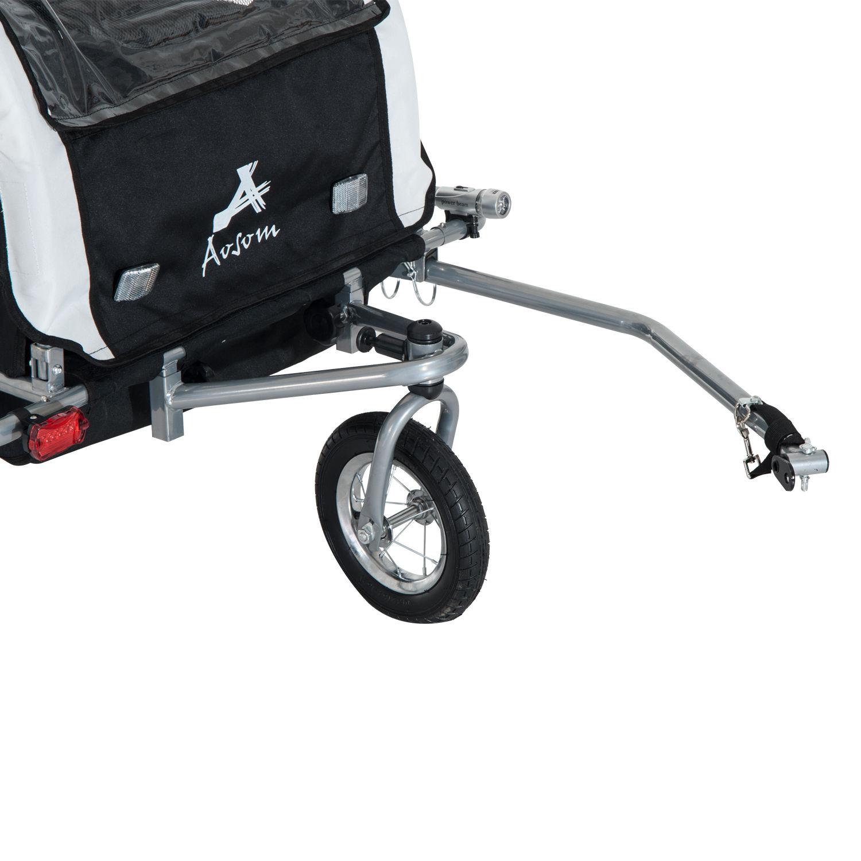 Remolque-Infantil-Bicicleta-2-PLAZAS-Kit-Footing-Rueda-360-Amortiguadores-Barra miniatura 34