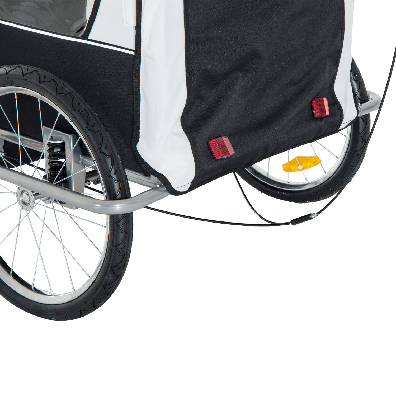 Remolque-Infantil-Bicicleta-2-PLAZAS-Kit-Footing-Rueda-360-Amortiguadores-Barra miniatura 35