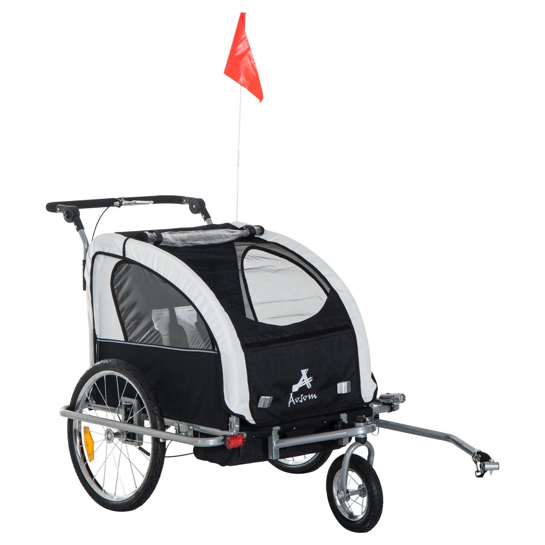 Remolque-Infantil-Bicicleta-2-PLAZAS-Kit-Footing-Rueda-360-Amortiguadores-Barra miniatura 30