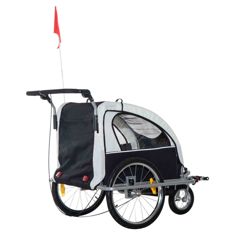 Remolque-Infantil-Bicicleta-2-PLAZAS-Kit-Footing-Rueda-360-Amortiguadores-Barra miniatura 28