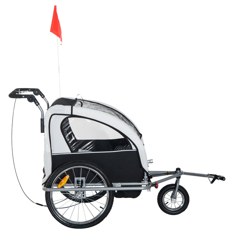Remolque-Infantil-Bicicleta-2-PLAZAS-Kit-Footing-Rueda-360-Amortiguadores-Barra miniatura 27