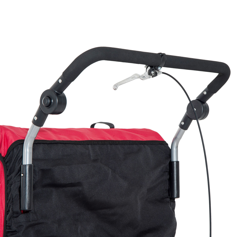 Remolque-Infantil-Bicicleta-2-PLAZAS-Kit-Footing-Rueda-360-Amortiguadores-Barra miniatura 46