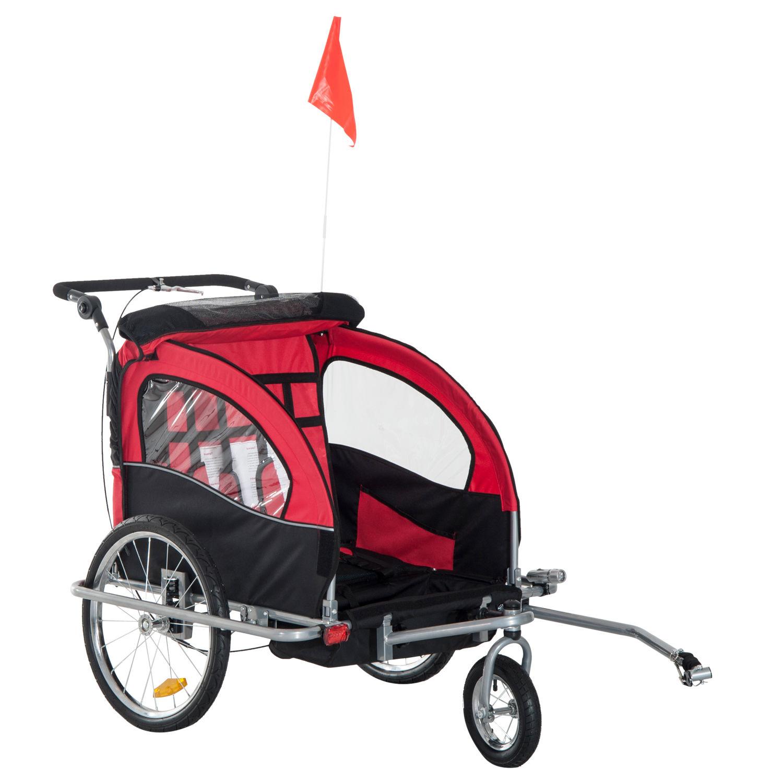 Remolque-Infantil-Bicicleta-2-PLAZAS-Kit-Footing-Rueda-360-Amortiguadores-Barra miniatura 44