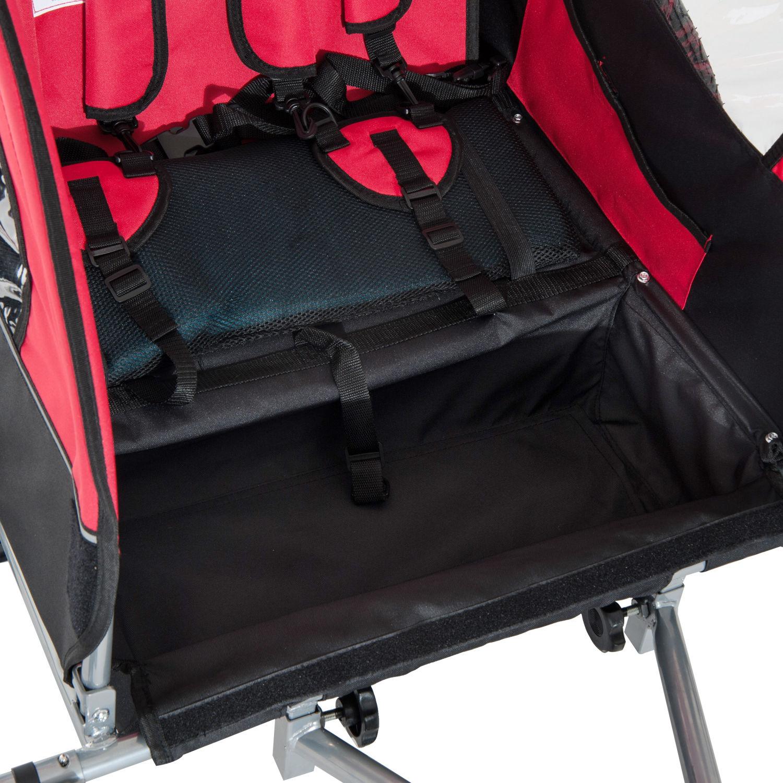 Remolque-Infantil-Bicicleta-2-PLAZAS-Kit-Footing-Rueda-360-Amortiguadores-Barra miniatura 45