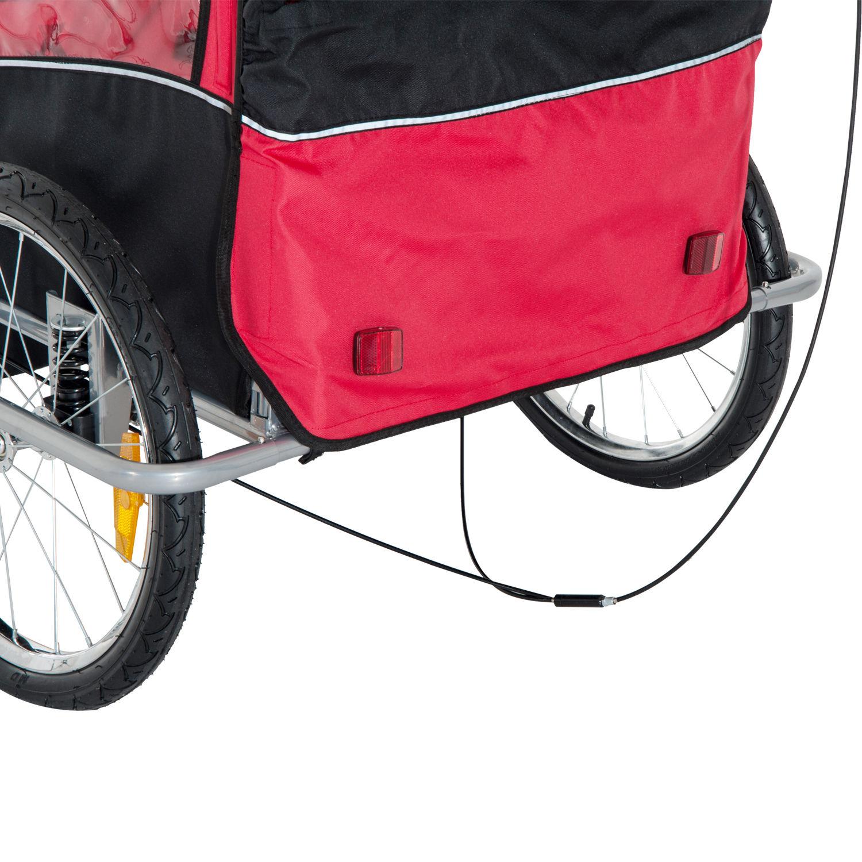 Remolque-Infantil-Bicicleta-2-PLAZAS-Kit-Footing-Rueda-360-Amortiguadores-Barra miniatura 48