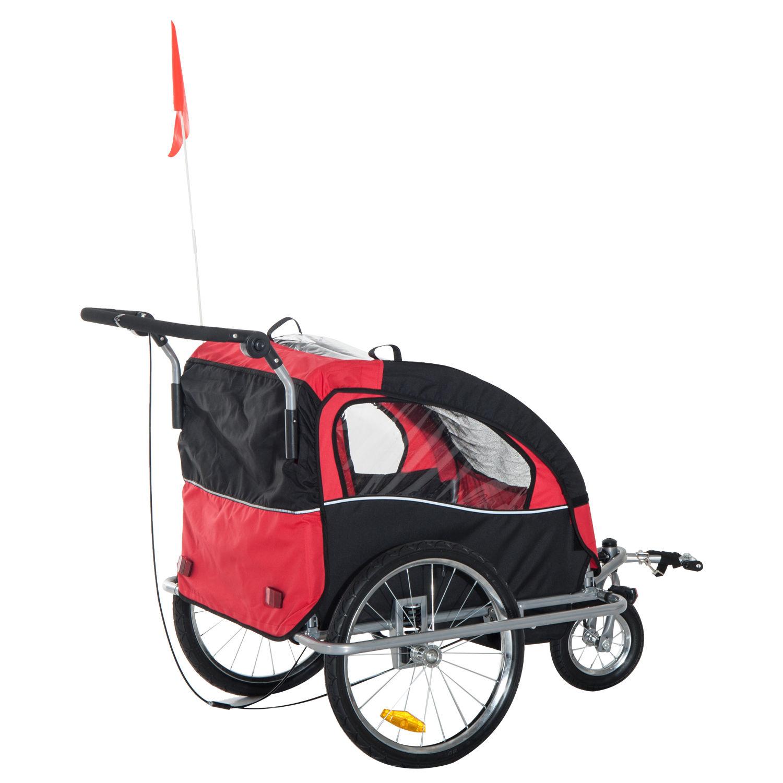 Remolque-Infantil-Bicicleta-2-PLAZAS-Kit-Footing-Rueda-360-Amortiguadores-Barra miniatura 41