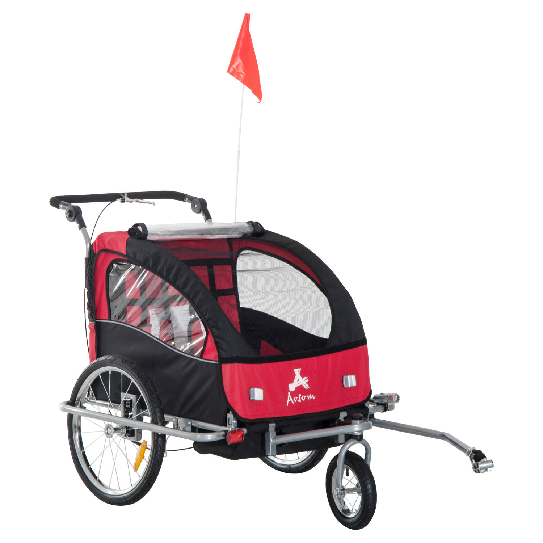 Remolque-Infantil-Bicicleta-2-PLAZAS-Kit-Footing-Rueda-360-Amortiguadores-Barra miniatura 43