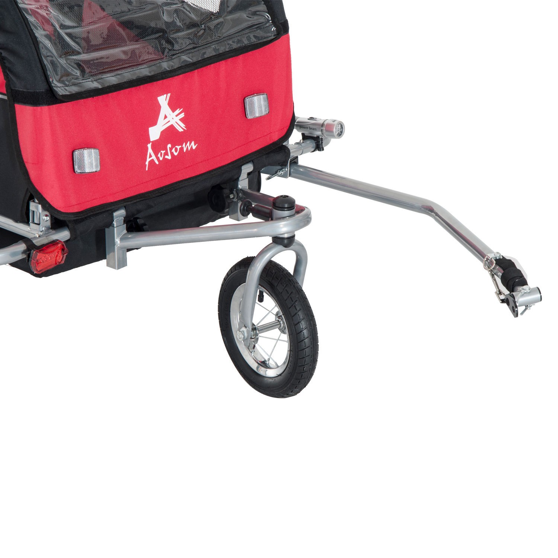 Remolque-Infantil-Bicicleta-2-PLAZAS-Kit-Footing-Rueda-360-Amortiguadores-Barra miniatura 47