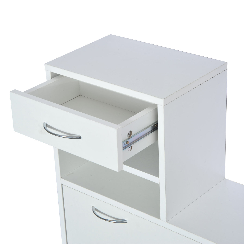 831 146wt 464  10 - Conjunto Muebles de Entrada Recibidor Pasillo 3 Piezas Perchero Espejo Zapatero