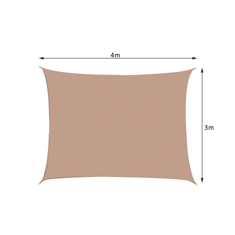 Toldo-de-Vela-Rectangular-para-Jardin-y-Exterior-Repelente-al-Agua-Proteccion-UV miniatura 10