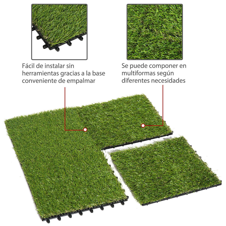 C sped artificial tipo alfombra o estera de hierba sint tica para jard n terraza ebay - Tipos de cesped artificial ...