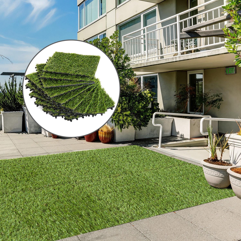 C sped artificial tipo alfombra o estera de hierba sint tica para jard n terraza ebay - Alfombras para terrazas ...